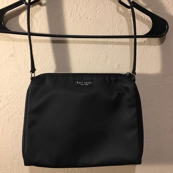 kate spade Handbags - Original Kate Spade Satin Shoulder Bag Black